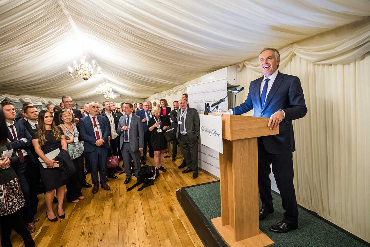 Tony Blair addresses Parliamentary Review representatives